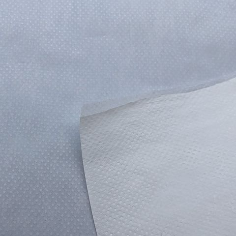 Medical grade Non Woven Polyester fabric with 45gsm TPU Thermoplastic Polyurethane Backing for PPE i